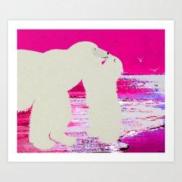 kissing Mama Art Print
