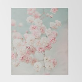 Gypsophila pink blush ll Throw Blanket