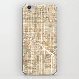 Tucson Arizona watercolor city map iPhone Skin