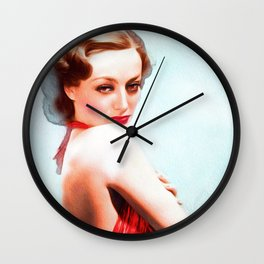 Joan Crawford, Actress Wall Clock