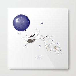 Moon and Stars *New* Metal Print
