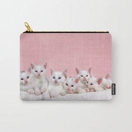 Bedtime for Seven Fluffy White Kittens Carry-All Pouch