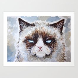 Tard the cat Art Print