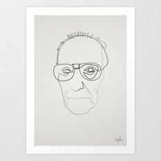 One line William Burroughs Art Print