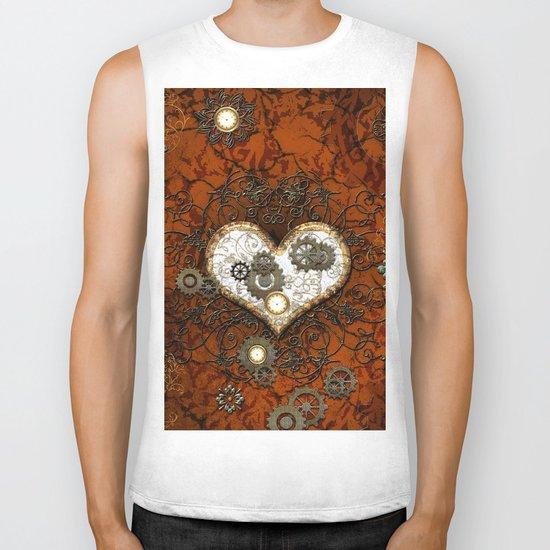 Steampunk, wonderful heart Biker Tank