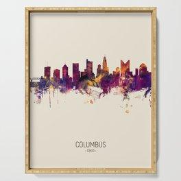 Columbus Ohio Skyline Serving Tray