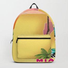 Miami Florida Vacation poster. Backpack