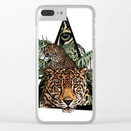 Jungle Animal Leopard ArtWork Clear iPhone Case