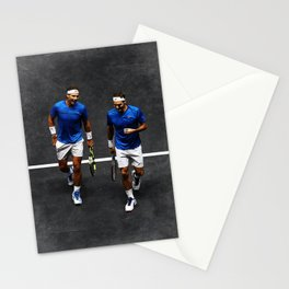 Nadal and Federer Doubles Stationery Cards