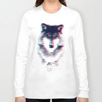 wolf Long Sleeve T-shirts featuring Act like a wolf.  by Mason Denaro