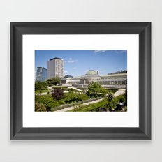 Brussels botanical garden Framed Art Print
