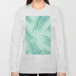 Summer Palm Leaves Dream #1 #tropical #decor #art #society6 Long Sleeve T-shirt