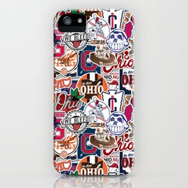 Cleveland Sticker Wall iPhone Case