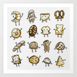 I Love Bread Art Print