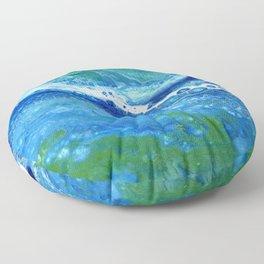Blue Lace Floor Pillow