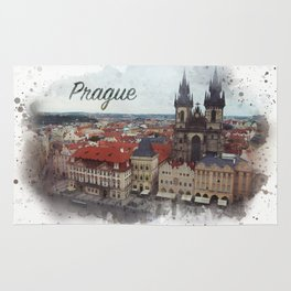 Old Town Square Prague Rug
