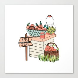 Apple Stand Canvas Print