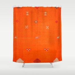 Traditional Anthropologie Moroccan orange Artwork. Art Print Shower Curtain
