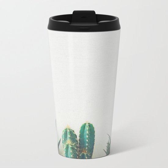 Cactus & Succulents II Metal Travel Mug