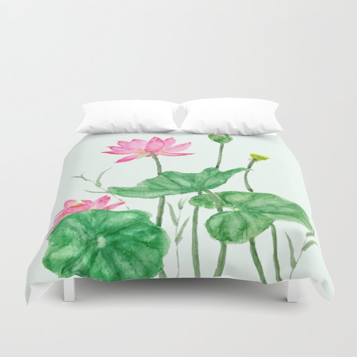 Lotus Flower Duvet Cover By Colorandcolor Society6