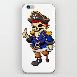pirate skeleton cartoon. iPhone Skin