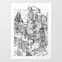 San Francisco! (B&W) Art Print