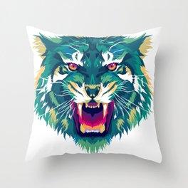 Tiger head. Tiger king illustration Throw Pillow