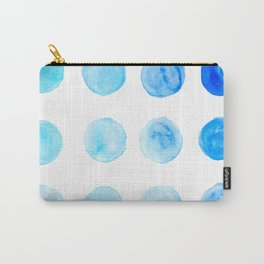 Calming Blue Watercolor Circles Carry-All Pouch