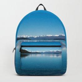 Blue line landscape Backpack