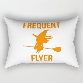 Frequent Flyer Halloween Witch Rectangular Pillow