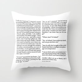 Jane Eyre Book Page Chapter Throw Pillow