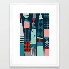 lighthouses Framed Art Print