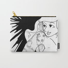 The Pin-Up With Tatoo Carry-All Pouch
