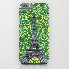 Eiffel Tower Drawing Meditation - purple/yellow/teal iPhone 6s Slim Case