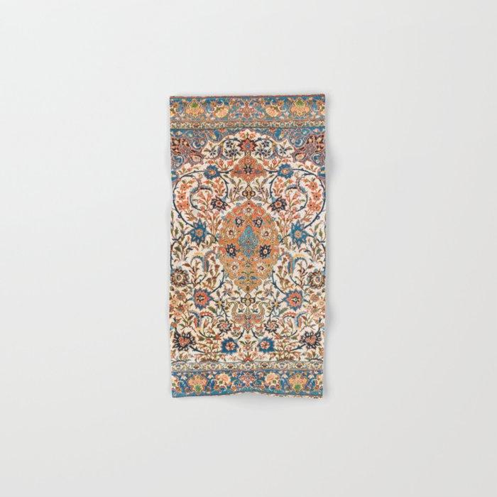 Isfahan Antique Central Persian Carpet Print Hand & Bath Towel