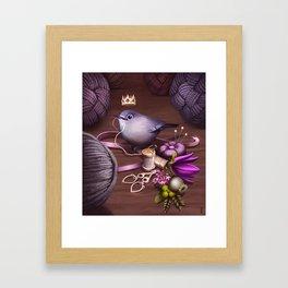 Queen of Skein Framed Art Print