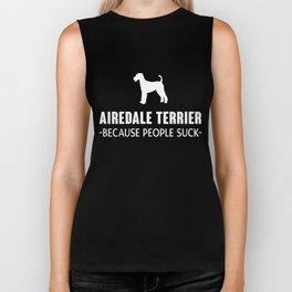 Airedale Terrier gift t-shirt for dog lovers. Biker Tank