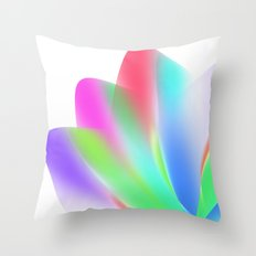 Fanned (on White) Throw Pillow