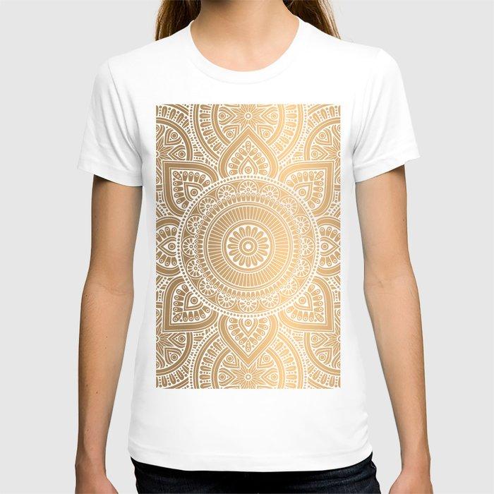 Gold Mandala 3 T-shirt