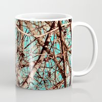 tangled Mugs featuring Tangled by Slava Bowman