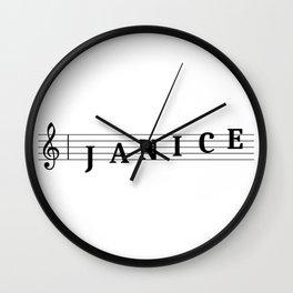Name Janice Wall Clock
