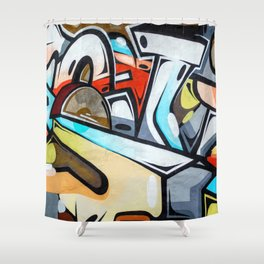 Wall Graffiti Shower Curtain
