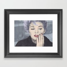 The tears of a mortal Framed Art Print