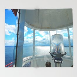 Souris Lighthouse View from the Top Throw Blanket