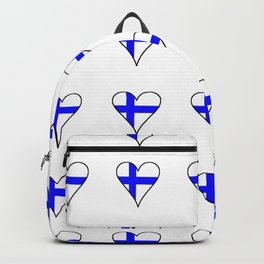 Flag of Finland 4 -finnish, Suomi, Sami,Finn,Helsinki,Tampere Backpack