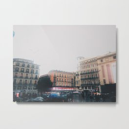 Blurry City Metal Print