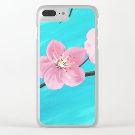 Japanese Cherry Blossoms Clear iPhone Case