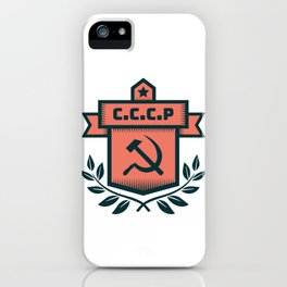 CCCP Modern Coat of Arms iPhone Case