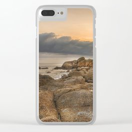 Stones, Ocean and Heaven Clear iPhone Case