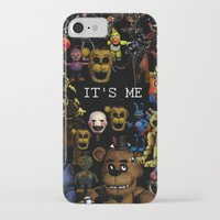 fnaf iPhone & iPod Cases featuring FNAF Cluster Design by artistathenawhite
